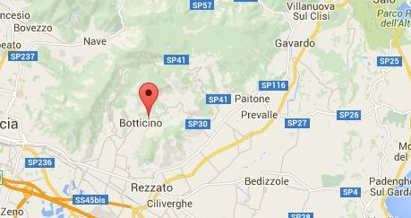 botticino town located in italy map pin