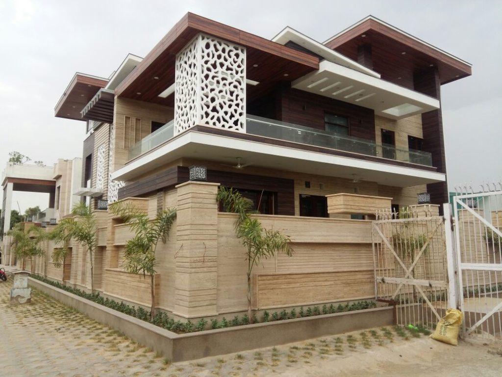 travertine beige marble exterior cladding use