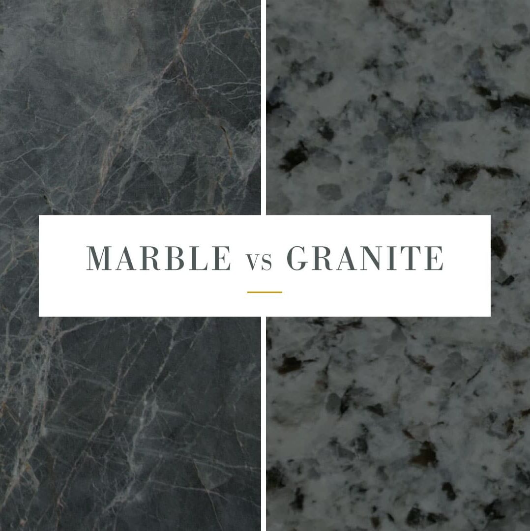difference in texture of marble and granite